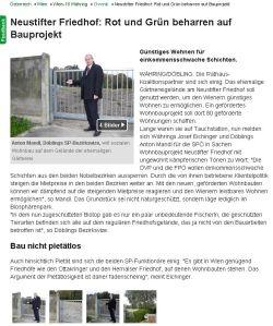 Neustifter Friedhof: Rot und Grün beharren auf Bauprojekt