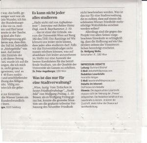 """Leserbrief zu """"Wien, lustig: Vom Totlachen in bester Friedhofslage"""